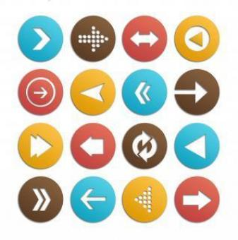 Free Stock Photo of Arrow icons vector set