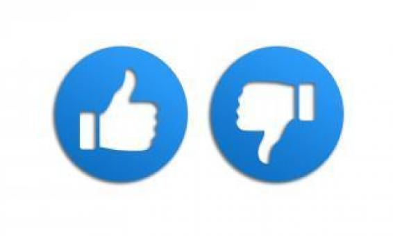 Free Stock Photo of Thumbs Up and Down like Icons