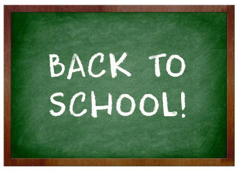 Free Stock Photo of Back to school chalkboard