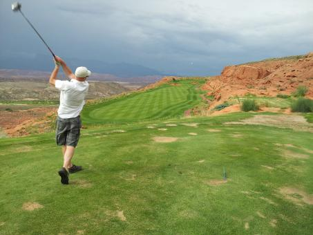 Free Stock Photo of Sand Hollow Golf Course