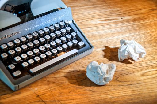 Free Stock Photo of Vintage typewriter and paper