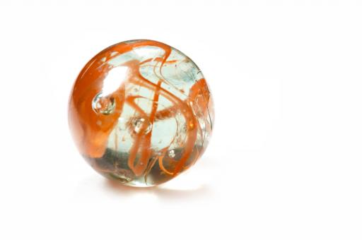 Free Stock Photo of Brightly coloured glass marble