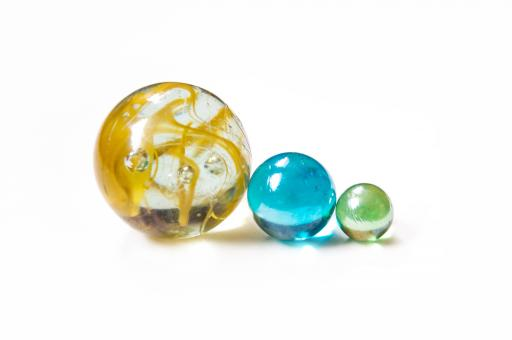 Free Stock Photo of colourful glass marble balls