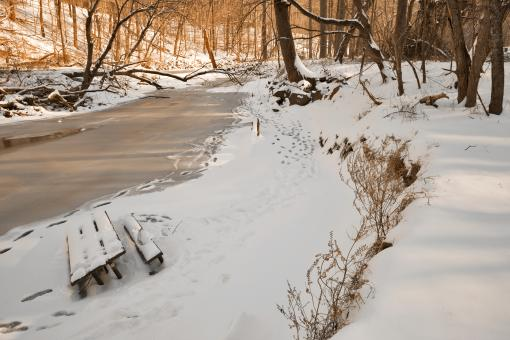Free Stock Photo of Rock Creek Winter - HDR