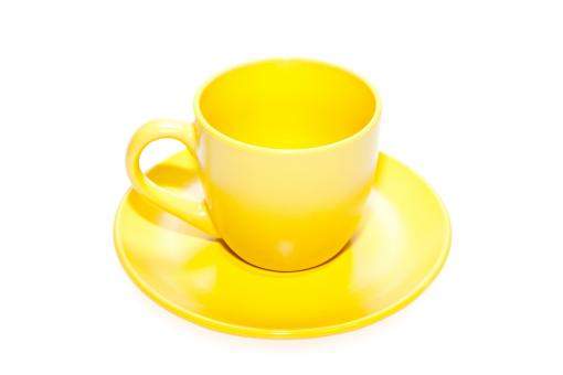 Free Stock Photo of Yellow cup