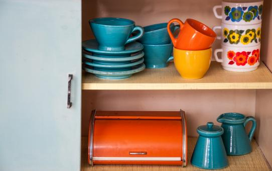 Free Stock Photo of Retro vintage kitchenware ceramics