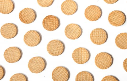 Free Stock Photo of Biscuits cookies pattern background