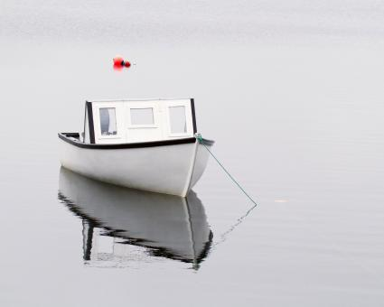 Free Stock Photo of Boat Reflection