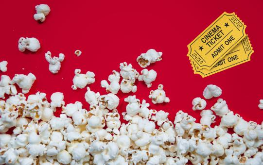 Free Stock Photo of Popcorn movies tickets cinema