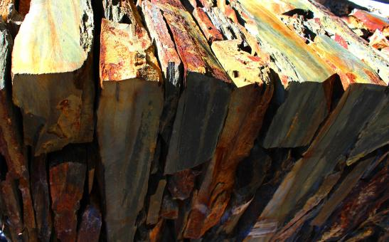 Free Stock Photo of Stack of Shale Slabs