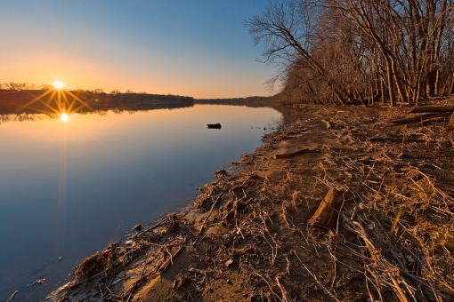 Free Stock Photo of Potomac Sunset - HDR