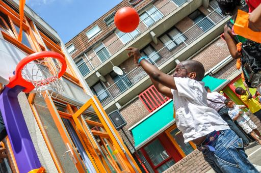 Free Stock Photo of African American boy playing basketball