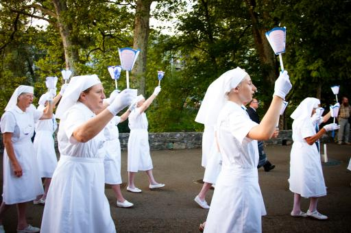 Free Stock Photo of Sisters and nuns in lourdes