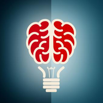 Free Stock Photo of Brain as a lightbulb - Creative idea