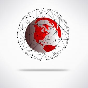 Free Stock Photo of Illustration of the Earth global connect