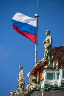 Free Stock Photo of Russian Flag on Hermitage