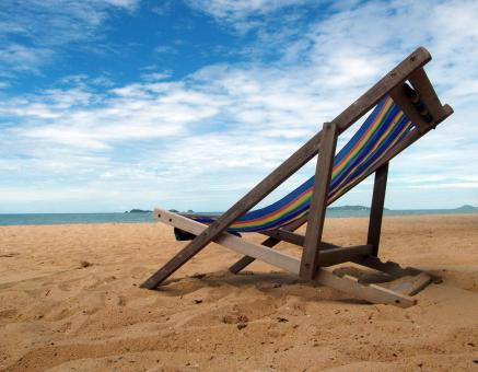 Free Stock Photo of Deckchair on a Tropical Beach