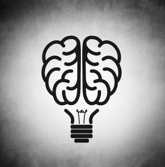 Free Stock Photo of Brain as black lightbulb