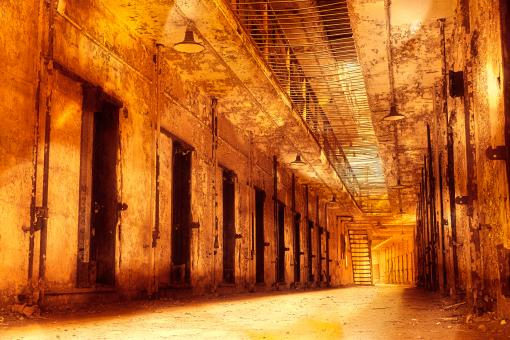 Free Stock Photo of Infernal Prison Corridor