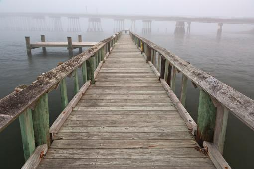 Free Stock Photo of Misty Assateague Pier - HDR