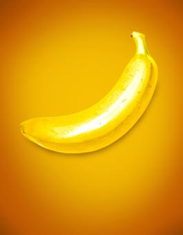 Free Stock Photo of Yellow (Banana) on Yellow (Background)