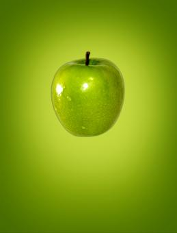 Free Stock Photo of Green (apple) on green (background)