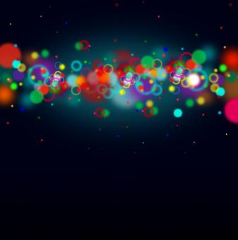Free Stock Photo of Colorful bokeh on dark blue background