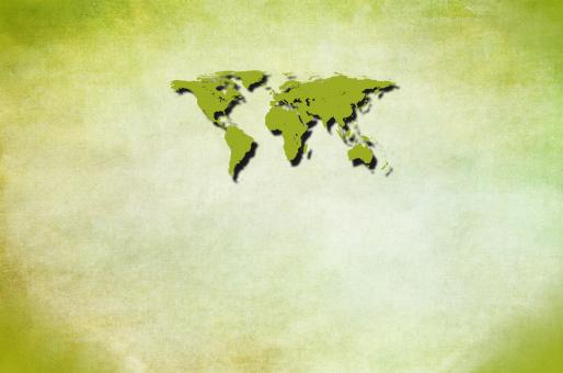 Free Stock Photo of Green world map with copyspace