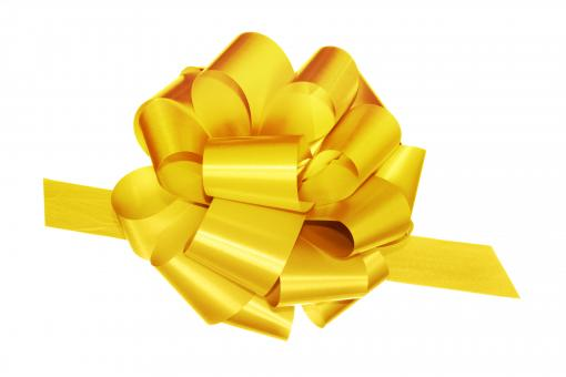 Free Stock Photo of Yellow bow