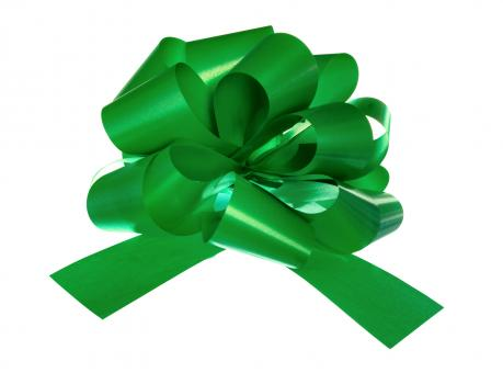 Free Stock Photo of Green bow