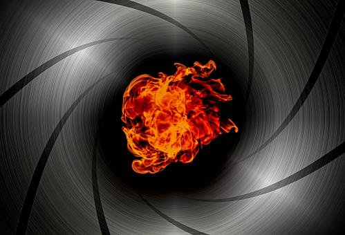 Free Stock Photo of Shooting through the barrel of a gun - Flame burst