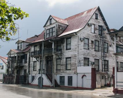 Free Stock Photo of Houses in the city of Paramaribo