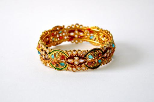 Free Stock Photo of Golden Bangle