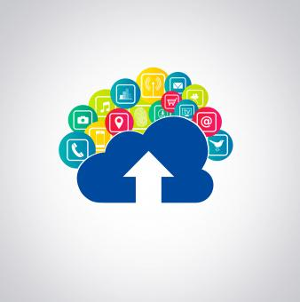 Free Stock Photo of Cloud-based apps illustration