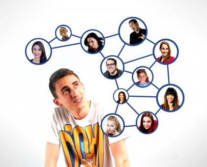 Free Stock Photo of A person and the respective personal connections