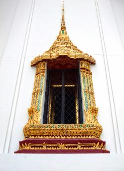 Free Stock Photo of Thai style temple window at Wat Phra Kaew - Bangkok - Thailand