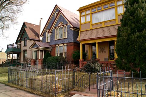 Free Stock Photo of Downtown Denver Residential Houses