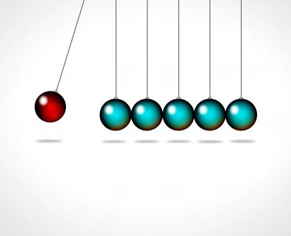 Free Stock Photo of Action and reaction - Go viral concept with Newtons cradle