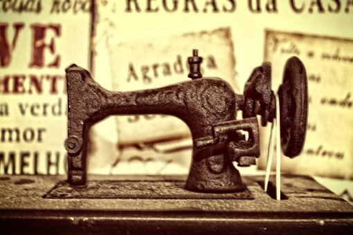 Free Stock Photo of A vintage sewing machine from the 19th century