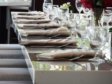 Free Stock Photo of Restaurant Fine Dining Table