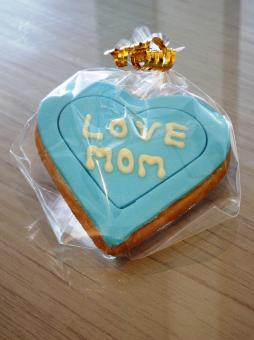 Free Stock Photo of Love Mom Heart Cookie