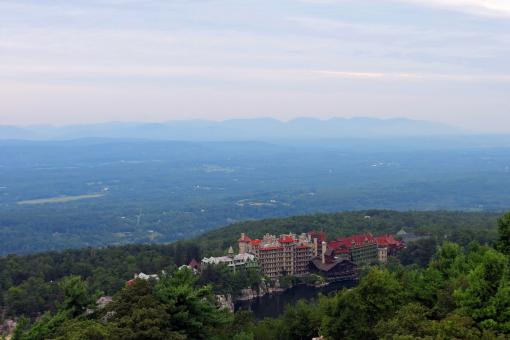 Free Stock Photo of Mohonk Mountain House Resort From Skytop Tower