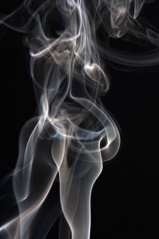 Free Stock Photo of smoke on black