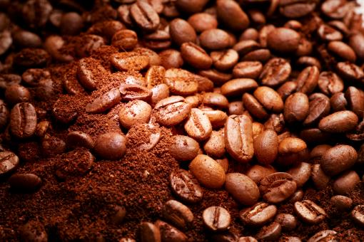 Free Stock Photo of Coffee grains