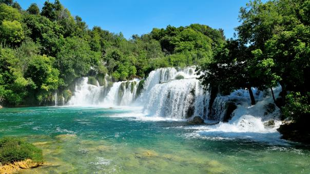 Free Stock Photo of Krka National Park Waterfalls