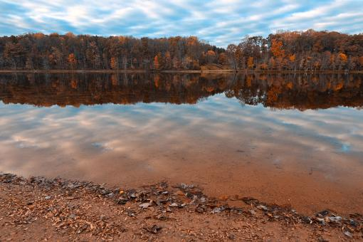 Free Stock Photo of Rustic Autumn Lake