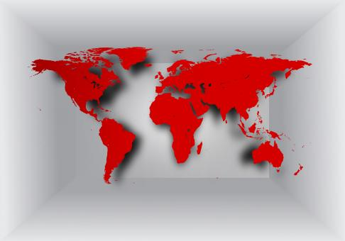 Free Stock Photo of World map on 3D background