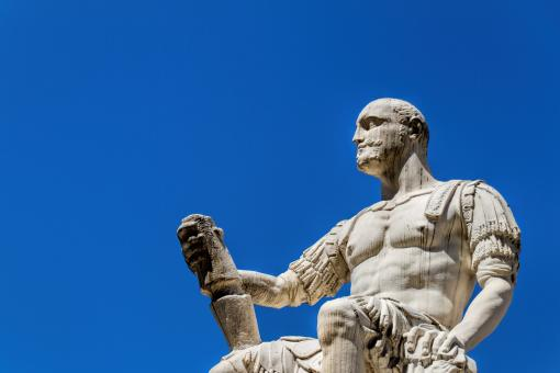 Free Stock Photo of Statue of Male with Scroll