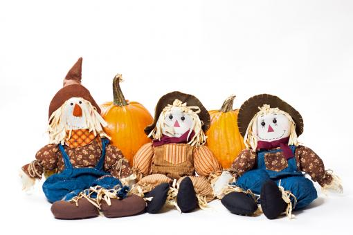 Free Stock Photo of Autumn scarecrows