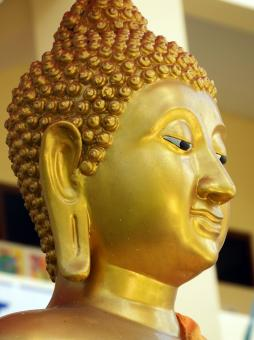 Free Stock Photo of Golden Buddha Face